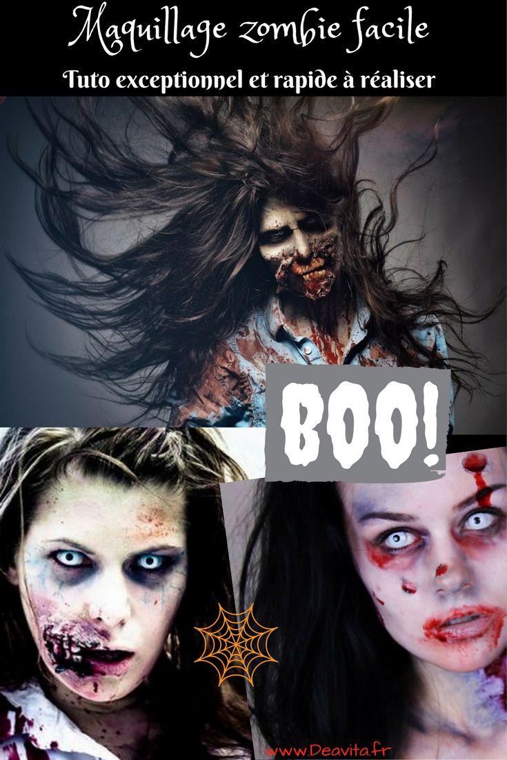Maquillage zombie facile tuto exceptionnel et rapide r aliser maquillage facile de zombie - Maquillage zombie femme facile ...