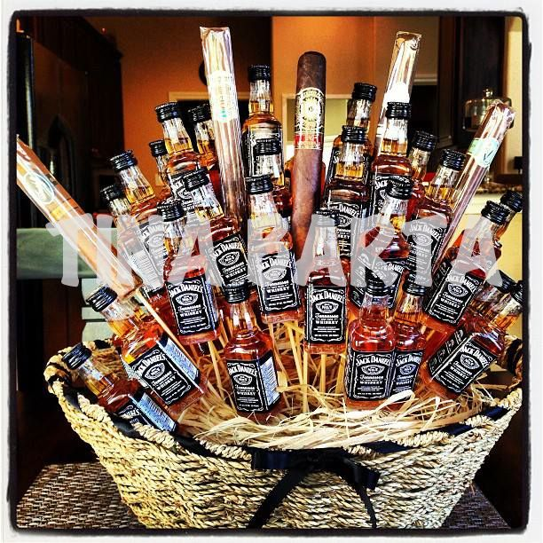 High End Cigar and 45 Jack Daniels Boozequet.  Cost $375