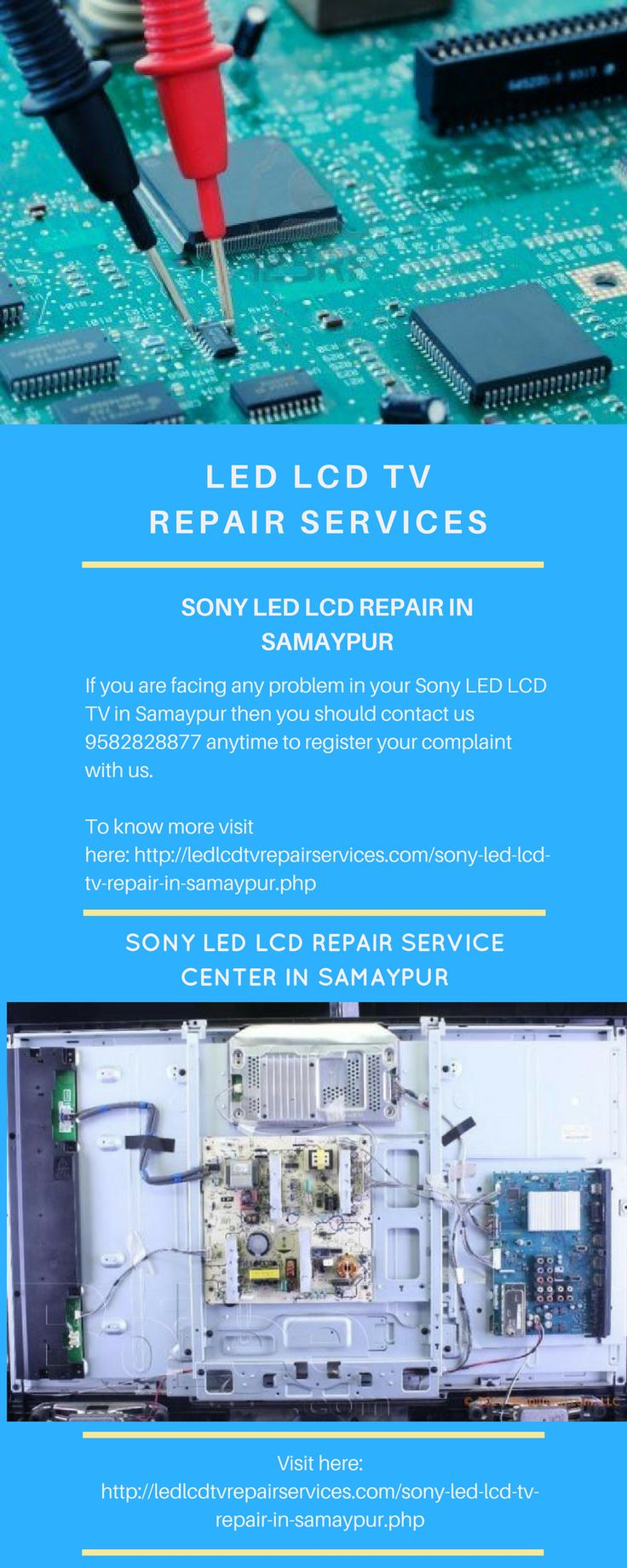 Sony LED LCD TV Repair Services Center in Samaypur offer quality and effective services of repairing any kind of LEDs, LCDs tv's at affordable price.