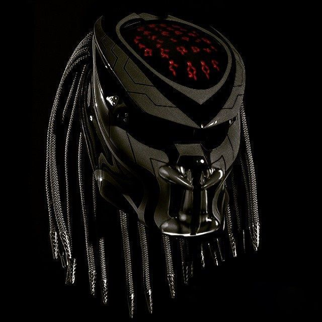New Design Predator Helmet Black And Red Motif Colour DOT Aproved Free Shipping #NHK #Predator