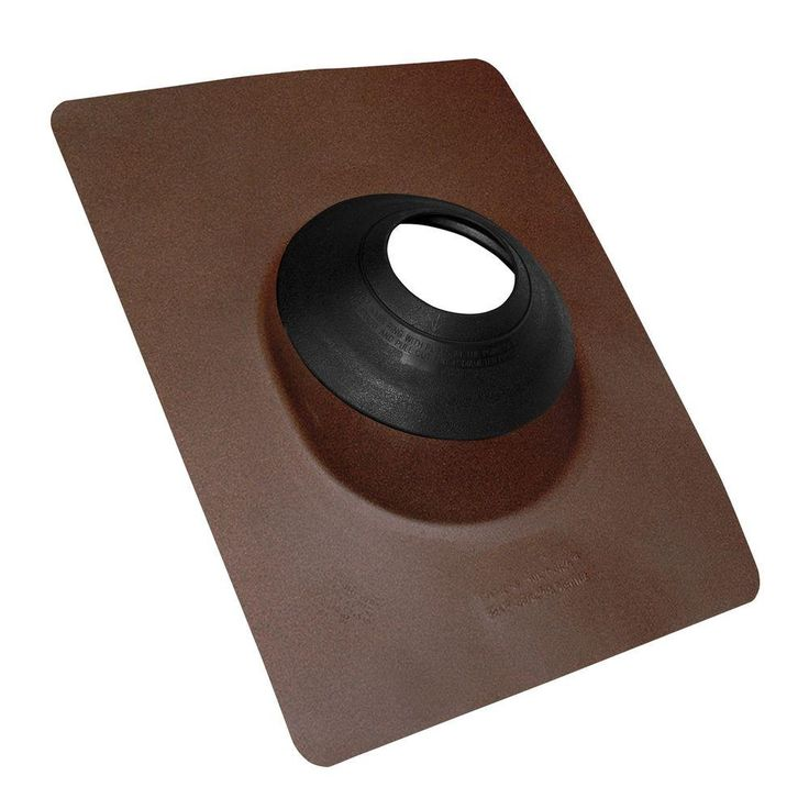 No-Calk 3 in. to 4 in. Aluminum Brown Roof Flashing, Brown/Tan