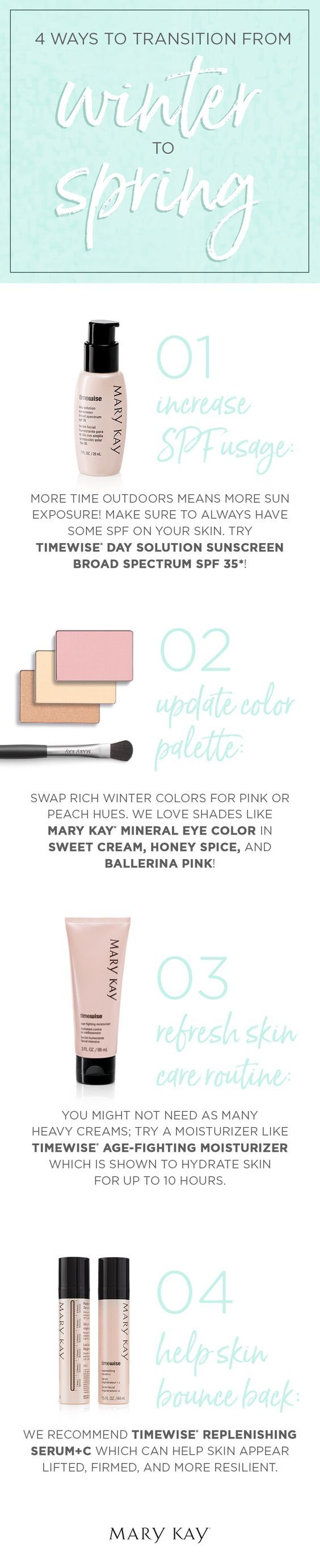 Mary Kay Online Agreement On Intouch - Transition from winter to spring with both your wardrobe and your beauty routine increase spf