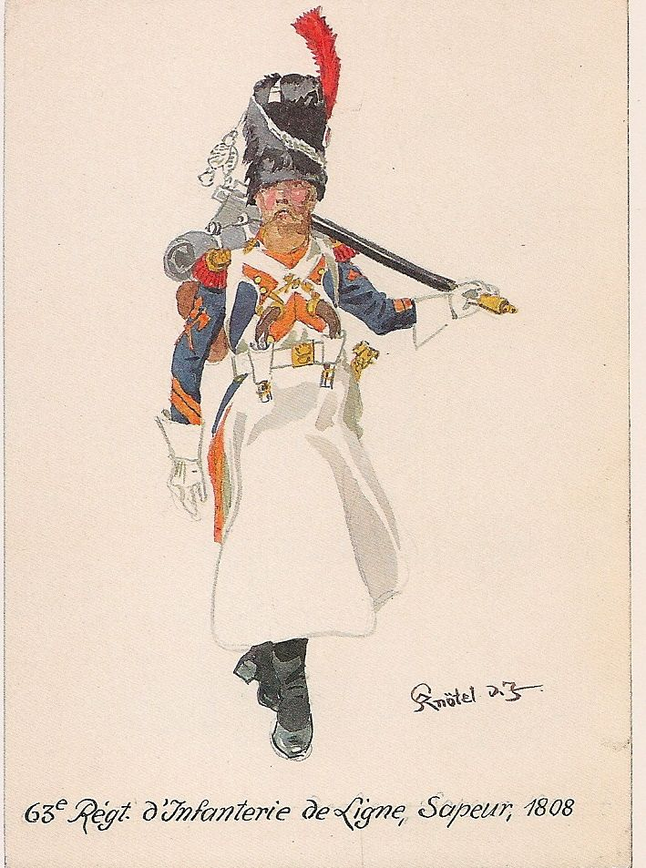 1808 French: 63rd Line Infantry, sapper.
