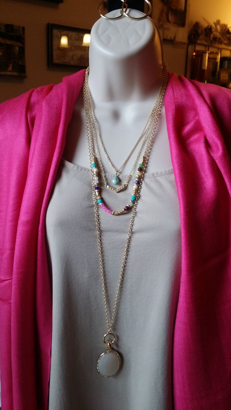 Jolie Necklace & Avery Necklace (long)