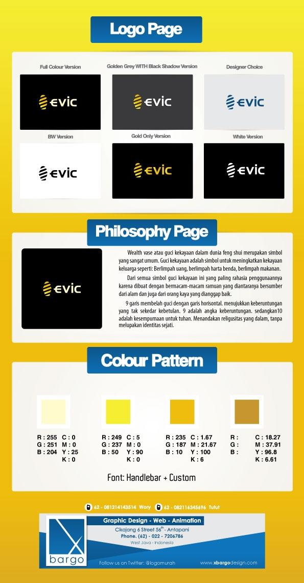 Desain Logo Evic 8