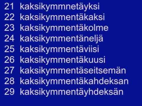 Counting in Finnish