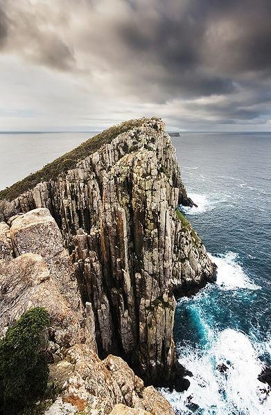 Candlestick, Cape Huay, The Tasman Peninsula, Tasmania, Australia. It is composed of Jurassic Dolerite. Tasmania has the world's largest areas of dolerite.