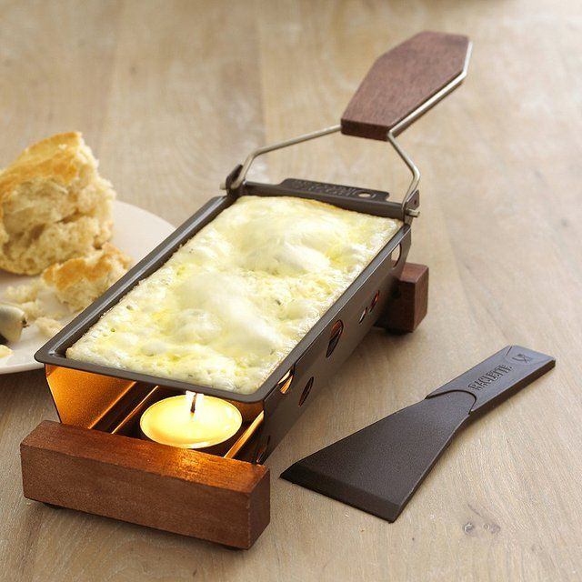 Have your own raclette party with freshly melted cheese practically anywhere with this extremely stylish Partyclette Cheese Melter by Boska.