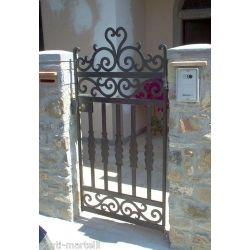 Wrought Iron Pedestrian Gate. Customize Realisations. 089