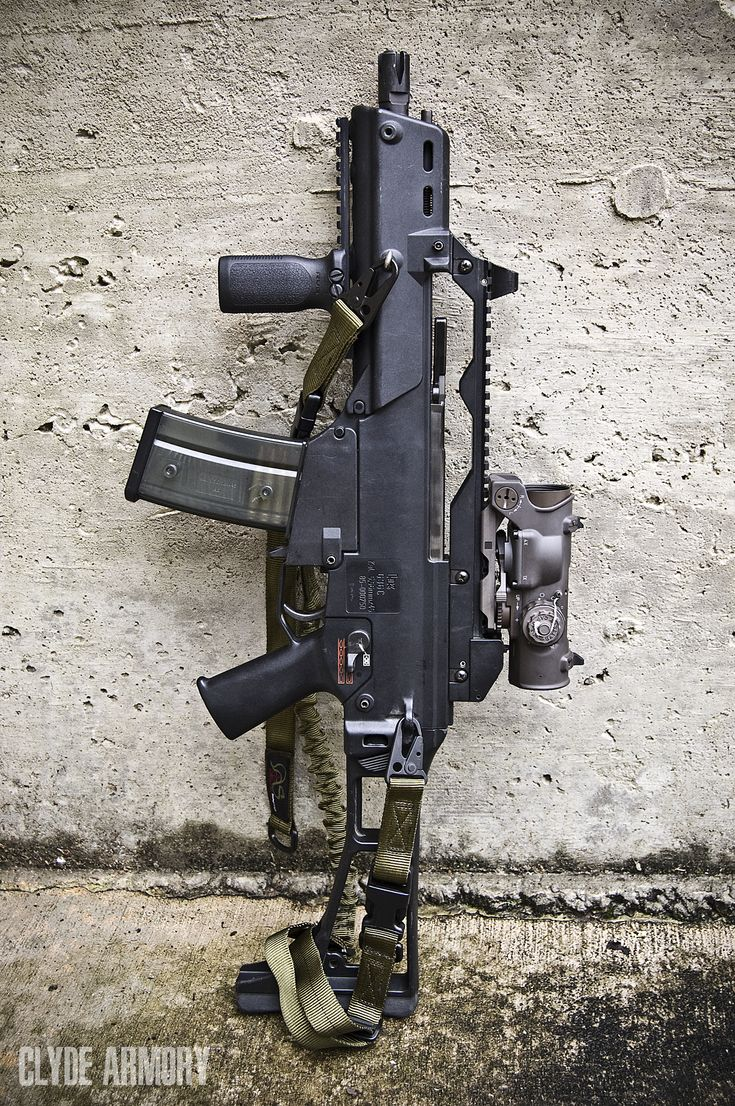 An HK G36C. |CLYDE ARMORY|