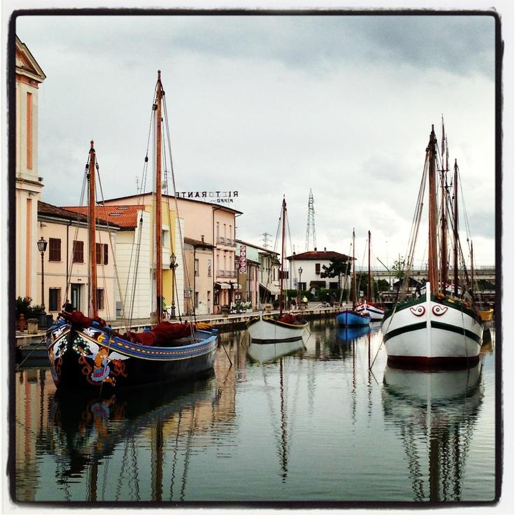 The harbour canal in cute Cesenatico! #cesenaticobellavita