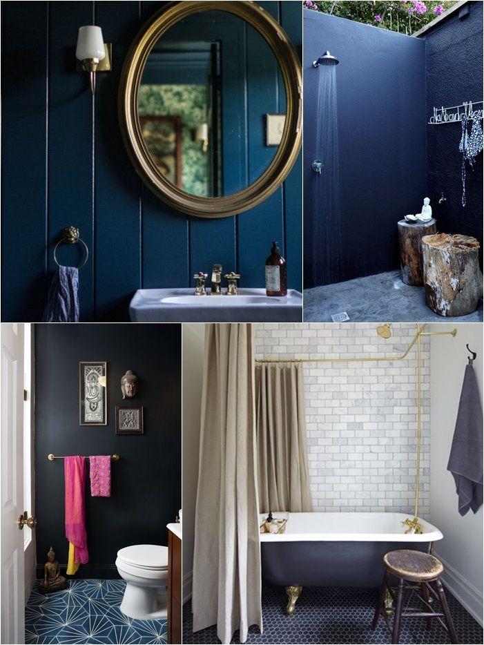 Bathroom Palette Blue Ocean - palette arredo bagno blu scuro