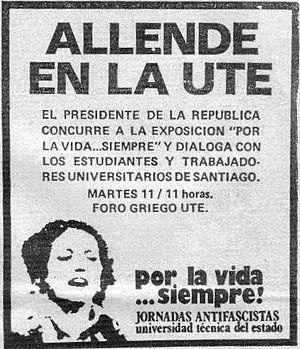 Aviso de un diario chileno el dia 10 de septie...