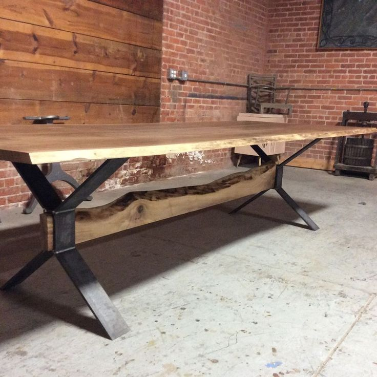 """Custom Made Live Edge Farm Style Dining Table.  This one is 10' long, 40"""" wide and 31"""" high, 1&1/2 thick (other sizes and thicknesses available).    $4250"""