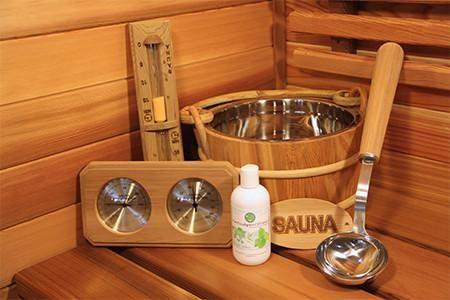 Deluxe 6 Piece red Cedar Sauna Accessory Kit. Great Gift Idea!