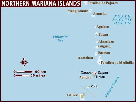 Map of Northern Mariana Islands