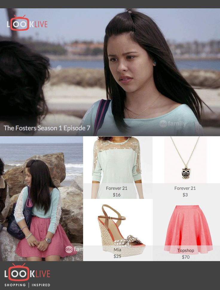 Check out Mariana Foster in Season 1 Episode 7 of The Fosters, and shop her look. Kinda in love with this outfit. Looklive.tumblr.com