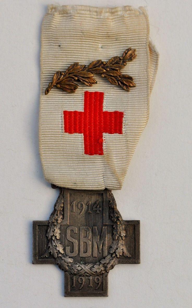 """французский красный крест медаль"""", """"s.b.m. 1914-1919"""