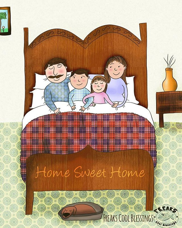 #illustration #ilustracion #drawing #family #home #love