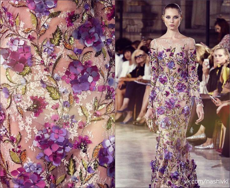 """""""Фантазия – это творчество, а творчество – это бунт"""" Е.Котова #вышивка #вышивание #рукоделие #цитаты #подборки #красота #мода #женщина #сиреневый #платье #цветы #пайетки #музыка #мода #фантазия #цветы"""