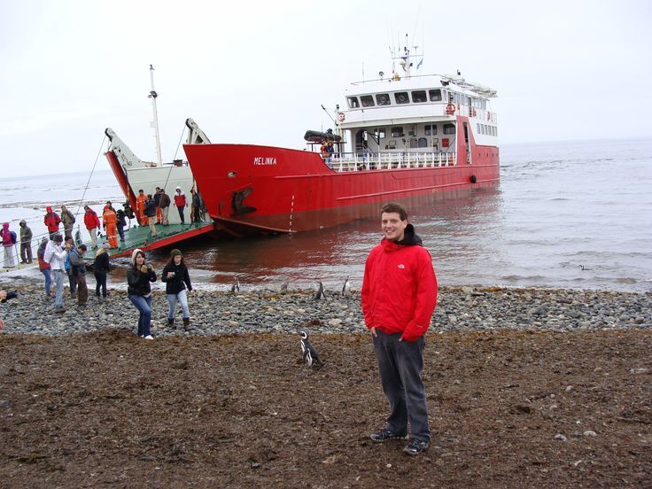 Ferry Melinka en la Isla Magdalena