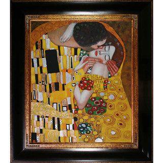 Gustav Klimt 'The Kiss' Oil Painting - Overstock™ Shopping - Big Discounts on Gustav Klimt Canvas