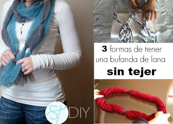 1000 images about crochet tejer y bordar 1 on pinterest - Como hacer una bufanda de lana gorda ...