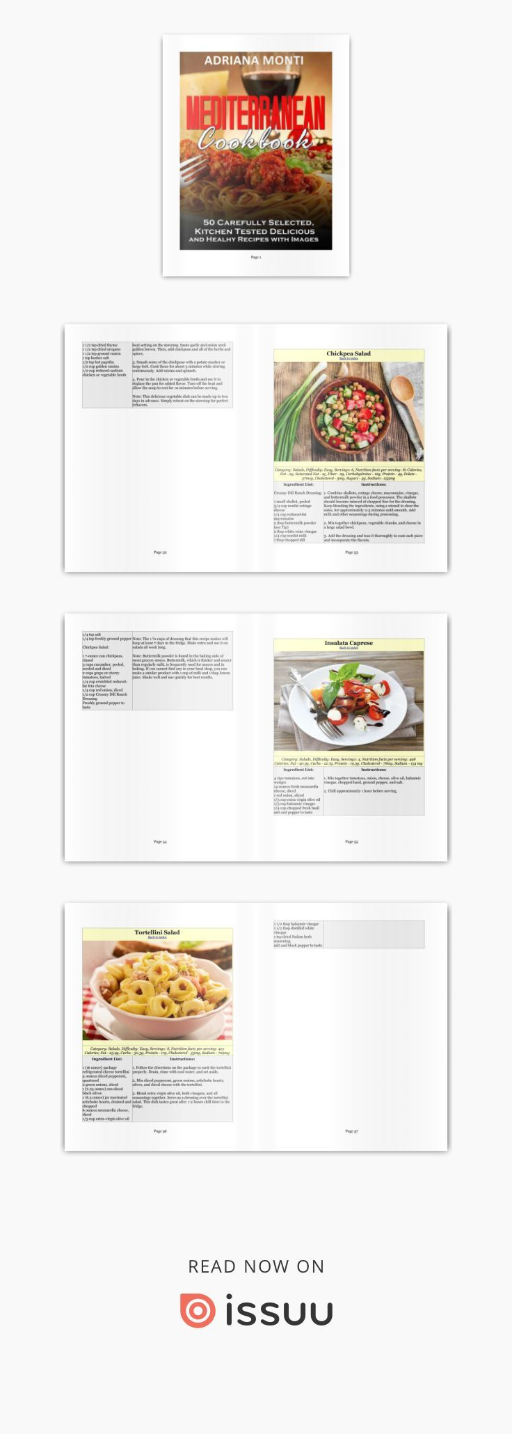 Mediterranean cookbook  A lot of kitchen tested mediterranean recipes