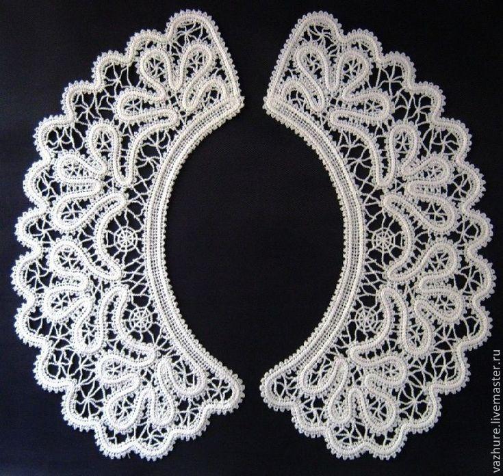 Купить Воротничок№21. - белый, черный, воротничок, воротник, воротничок съемный, воротничок ажурный, воротничок в подарок