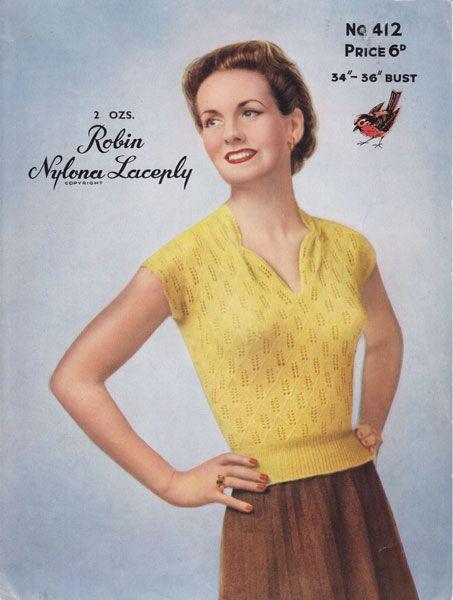 129 best Vintage knitting patterns images on Pinterest | 1940's ...