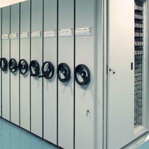 scaffalature compattabili per archiviazione e magazzinaggio