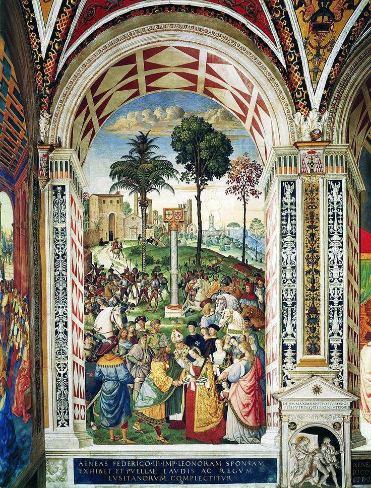 Пикколомини, епископ Сиены,встречает Элеонору Португальскую.