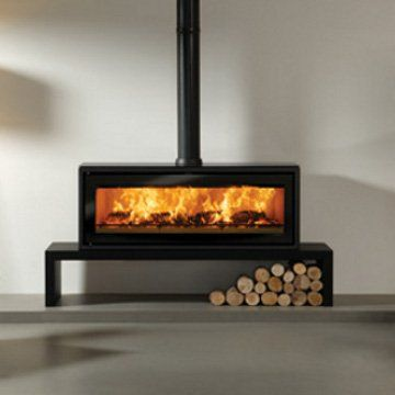 Widescreen woodburner / Stovax Riva Studio 3