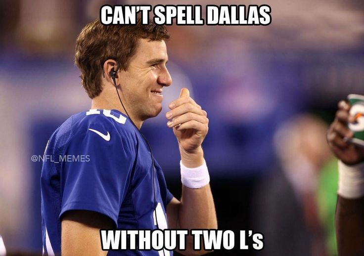So true! Go G-Men! You can't spell new york with out a w !