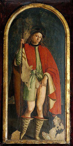 S. Rocco, opera di Antonio del Massaro detto il Pastura (sec. XV-XVI) - Chiesa di Sant'Angelo in Spatha