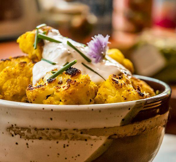 Chou fleur rôti au cari de Madras