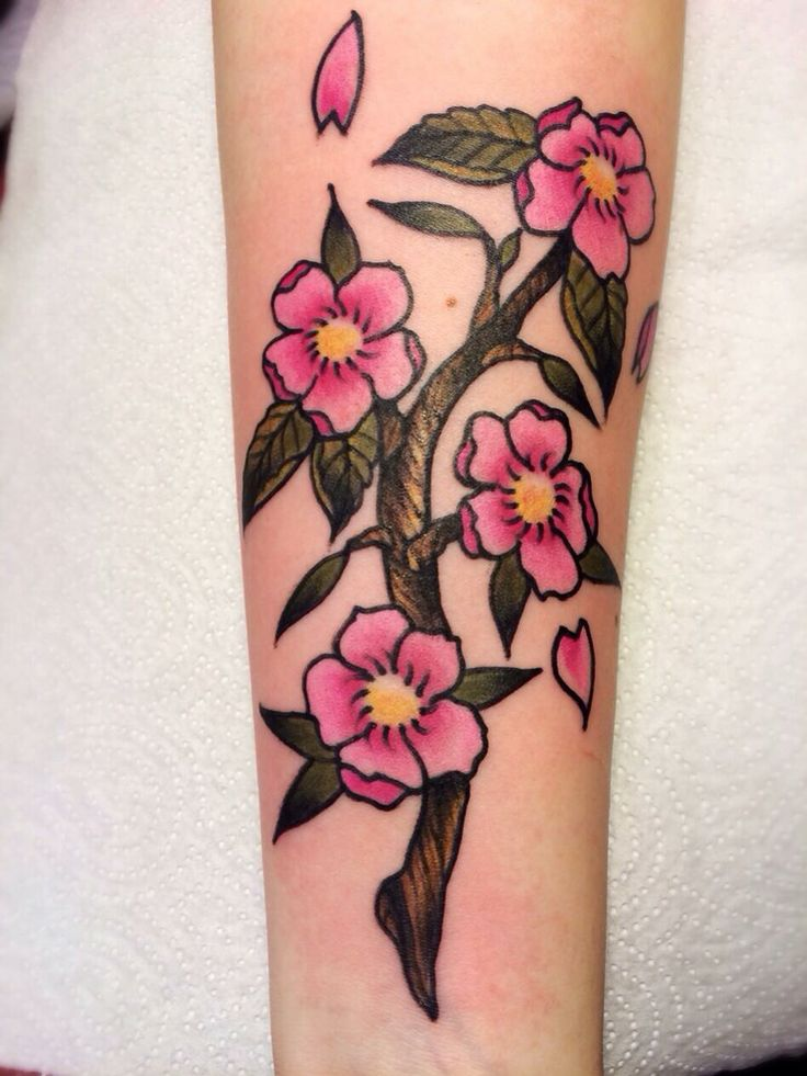 #sailawaytattoo#tattoo#cherryblossoms