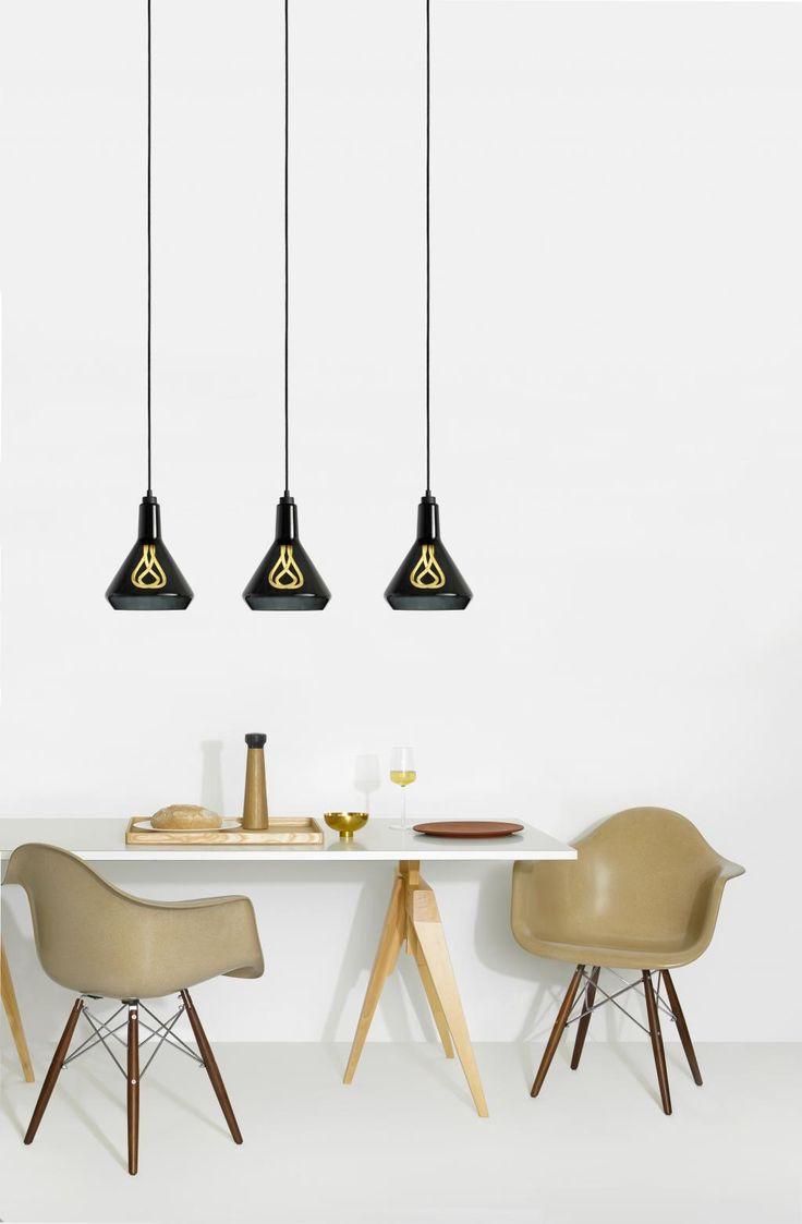 Hanglamp set Drop Top Zwart - Drop cap Zwart - 001 E27 - Plumen