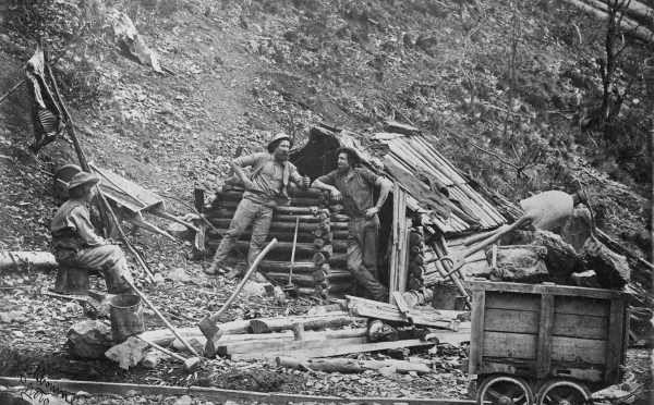 Prospector's Hut Upper Dargo Gippsland Date(s) of creation: [ca. 1870] Dargo, Australia Source http://www.slv.vic.gov.au/pictoria/b/1/9/doc/b19603.shtml