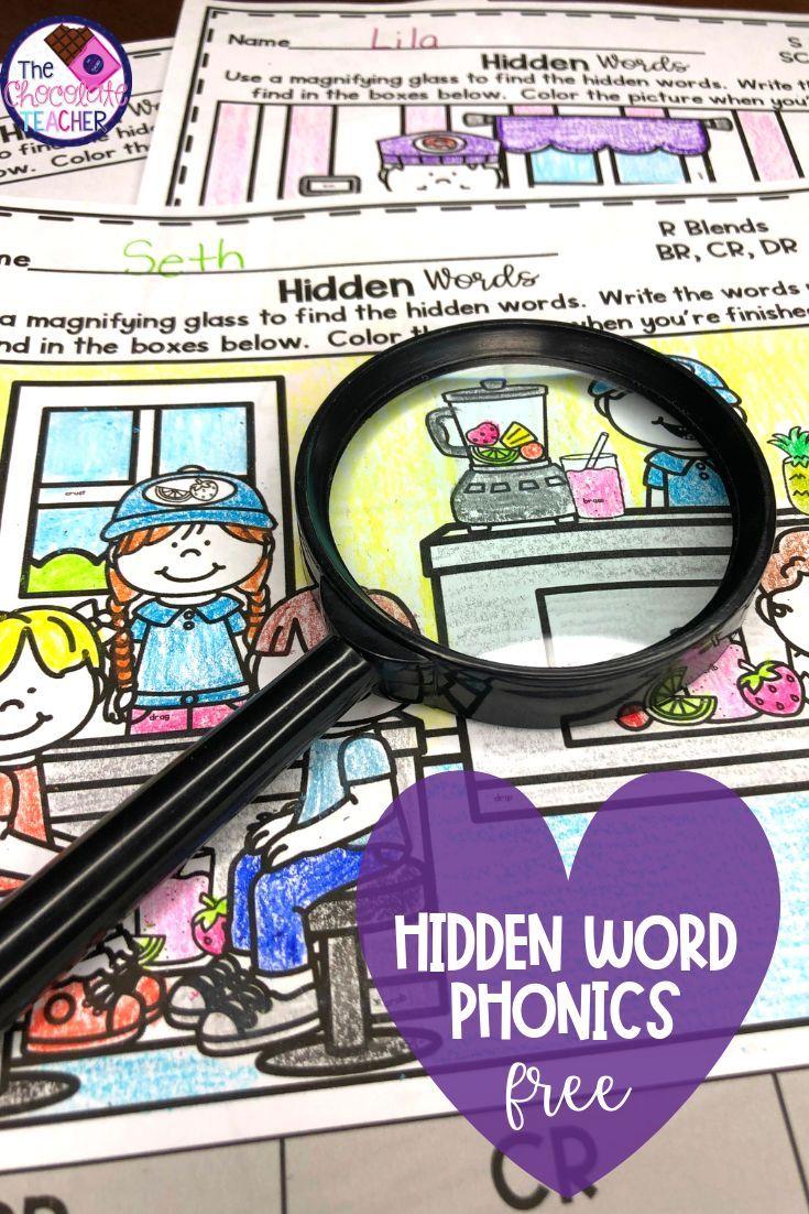 Are You Looking For A Fun Way To Have Your Kindergarten And First Grade Students Practice Their Spellin Free Phonics Activities Hidden Words Phonics Activities [ 1102 x 735 Pixel ]