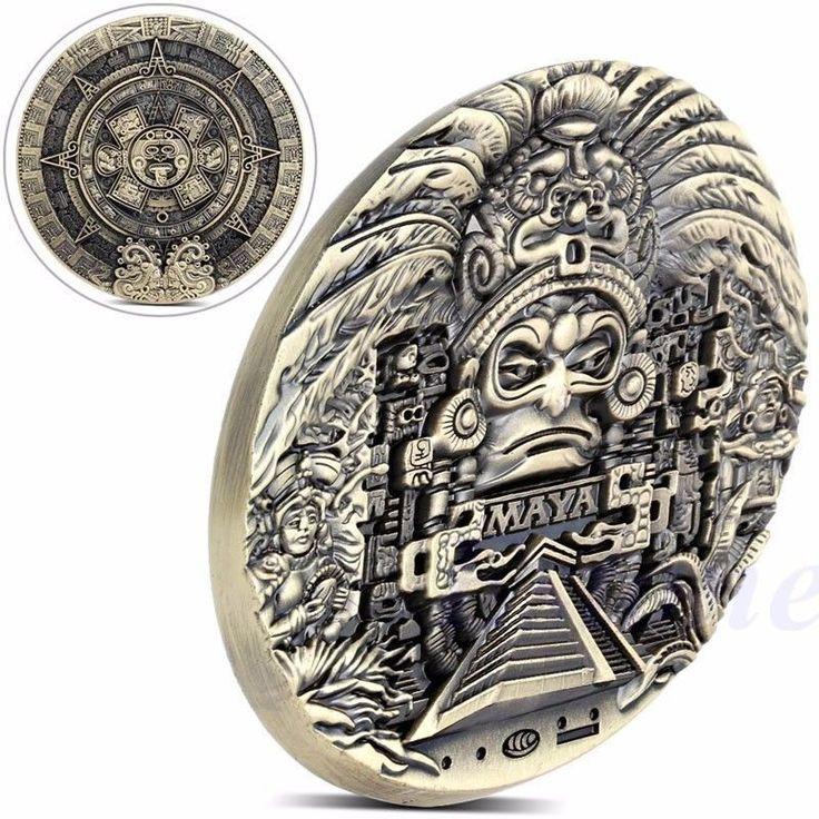 Mayan Aztec Calendar Souvenir Prophecy Commemorative Coin Art Collection Gift - Coins