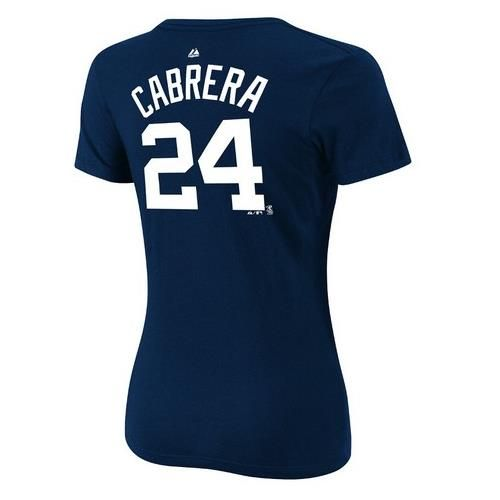 Miguel Cabrera Detroit Tigers Womens Player Name and Number Majestic Tee
