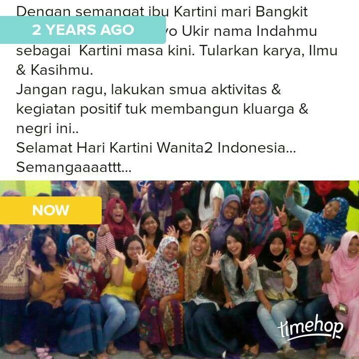 Pagi yang indah... Selamat Hari kartini tuk smua wanita2 Hebat Indonesia..
