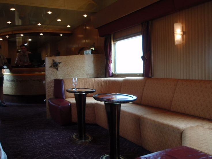 Lounge area on The Ghan, service top notch.
