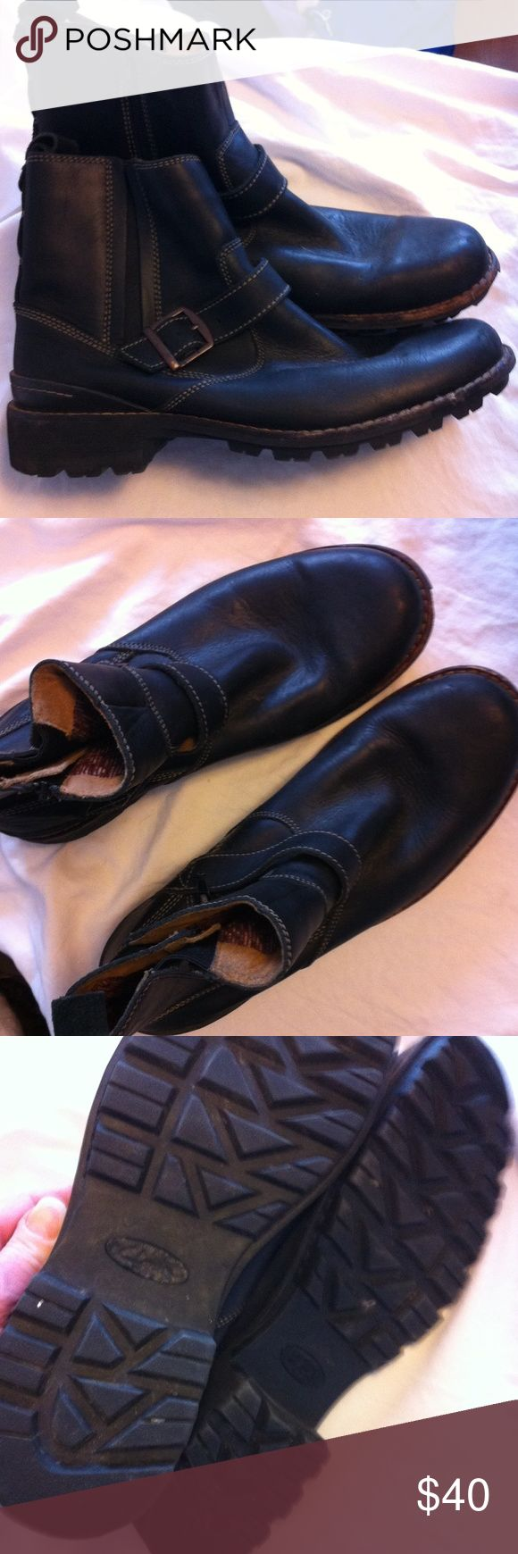 Men's motorcycle boots Leather Worn about 3 times, my Son grew out of them. Clarks Shoes Boots