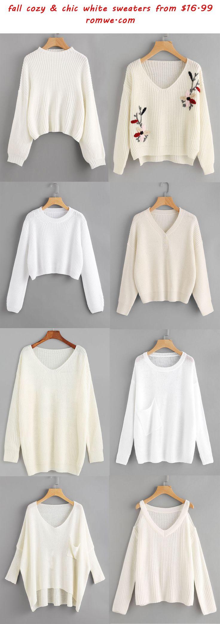 Best 25  White sweaters ideas on Pinterest | White knit sweater ...