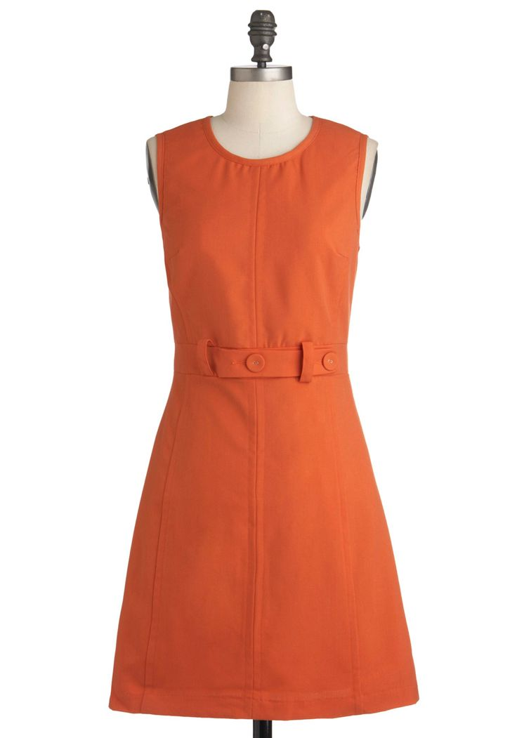 Thoroughly Mod Dress in Orange Scooter at ModCloth