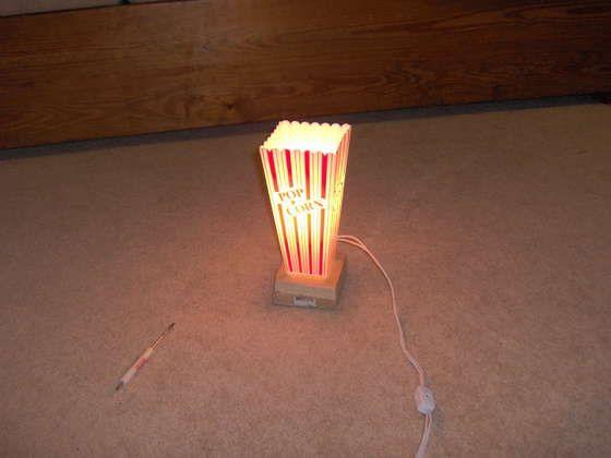 Popcorn lamp - DIY movie room!