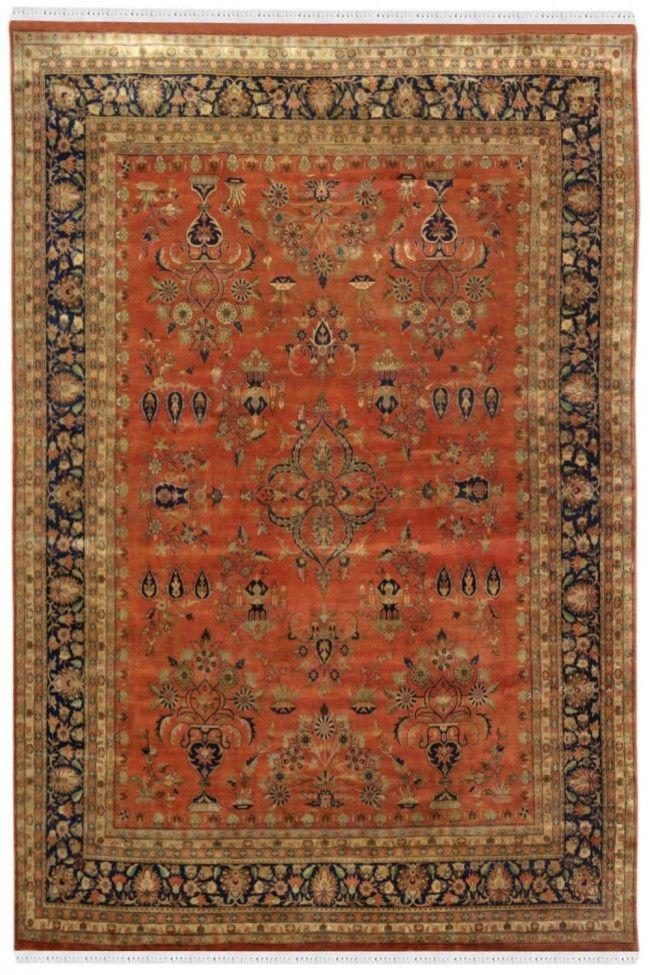 Handmade Auburn Kashan Wool Rugs