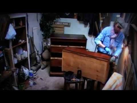 how to restore an old chest of drawers - YouTube